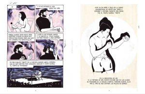 Páginas interiores de la novela gráfica Cortázar. 2017