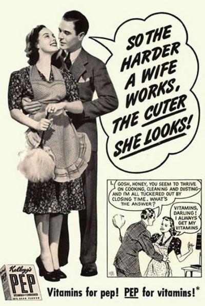 Publicidad vintage sexista Símbolo Ingenio Creativo