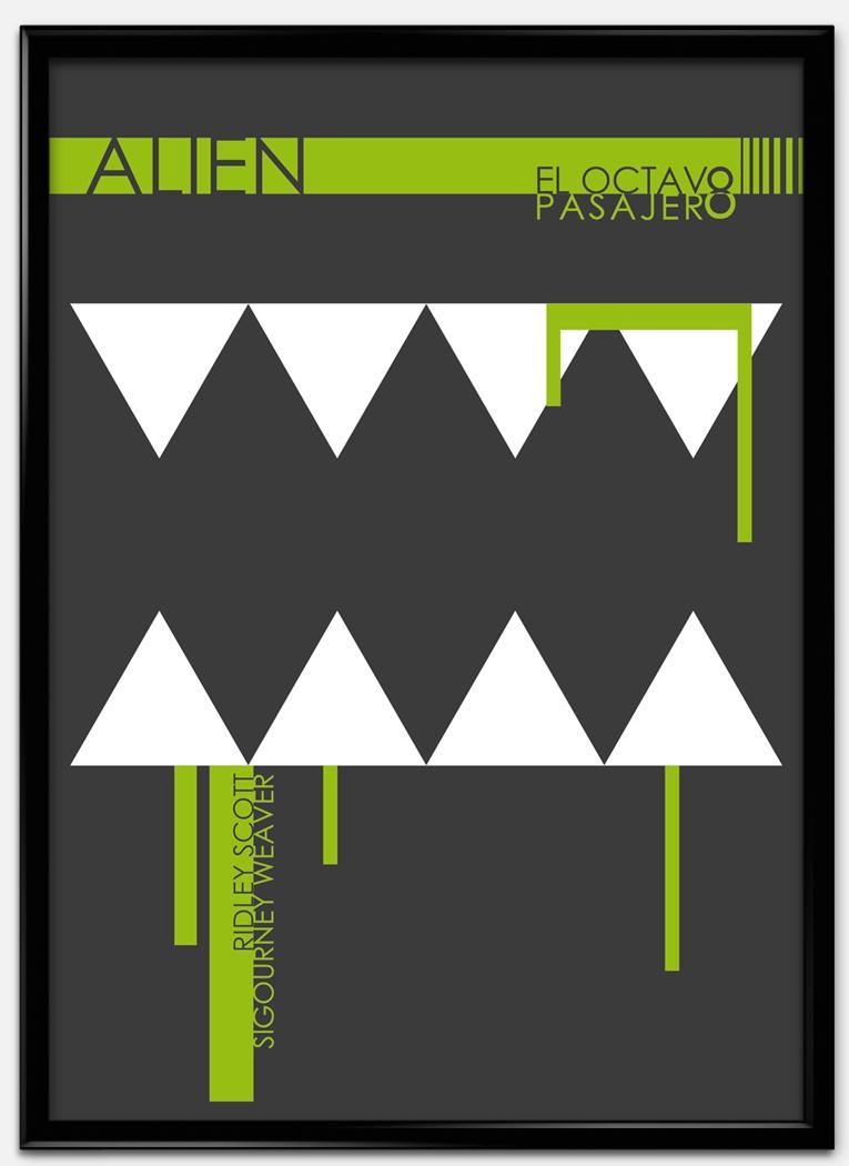 Cartel estilo suizo de Alien