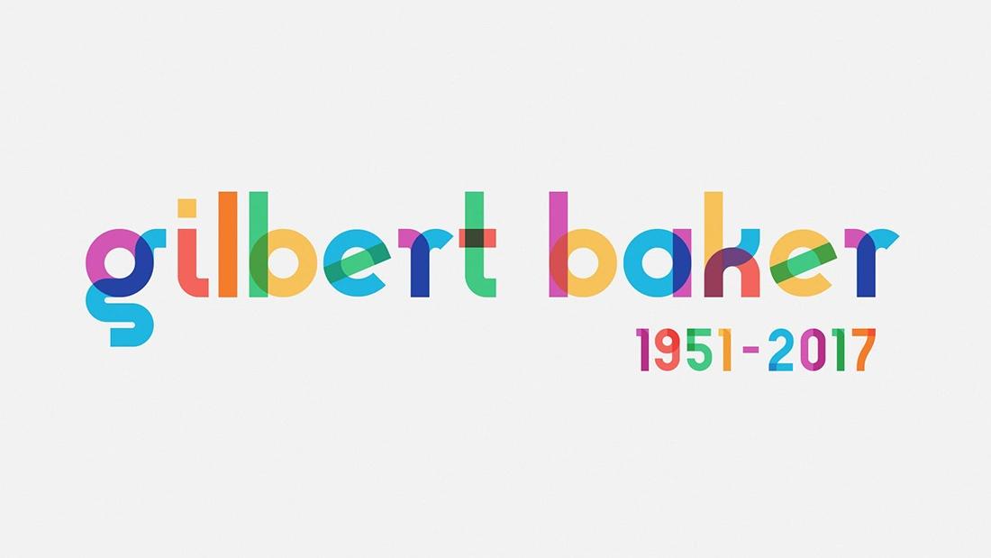 Tipografía Gilbert, homenaje a Gilbert Baker, diseñador de la bandera arcoiris