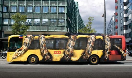 Publicidad exterior, creatividad impactante. Zoo de Copenhage, Símbolo Ingenio Creativo