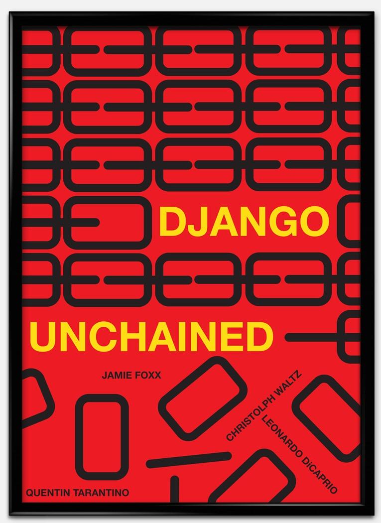Cartel estilo suizo de Django desencadenado