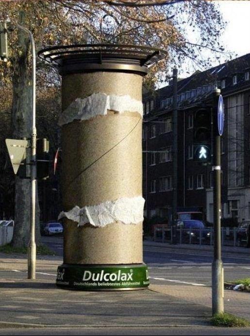Publicidad exterior, creatividad impactante. Dulcolax, Símbolo Ingenio Creativo