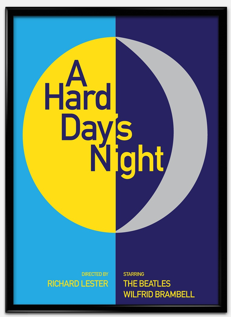 Cartel estilo suizo de The hard days night