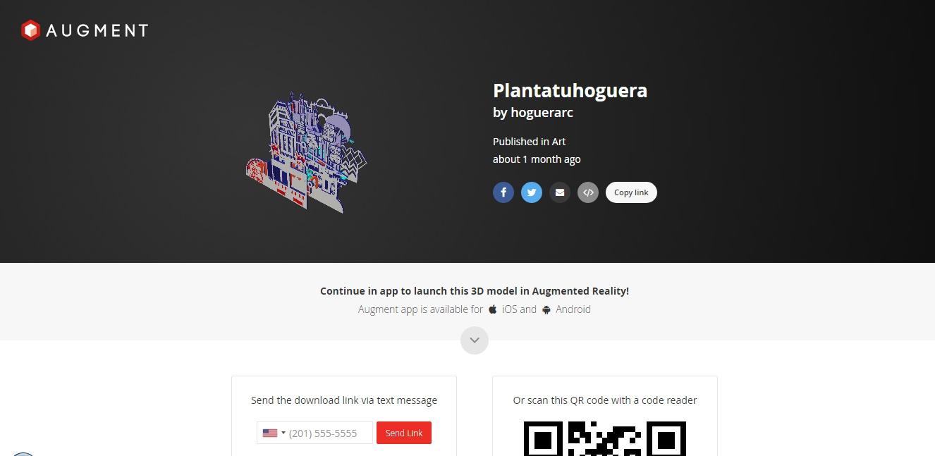 Augment, página desde donde se realiza la descarga de la app de esta hoguera Ruperto Chapí 2017