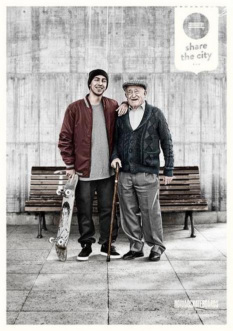 campaña de LOLA para Nomad Skateboards
