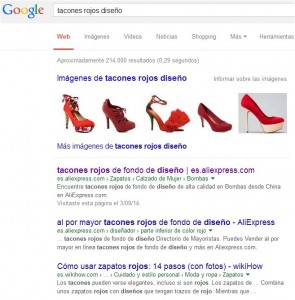tacones google