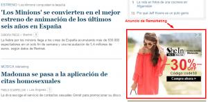 Publicidad digital: Anuncio de remarketing.