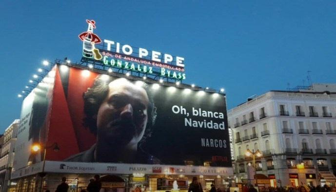 Campaña navideña narcos